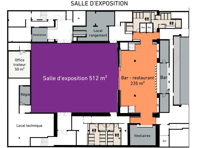 Plan de la salle d'exposition
